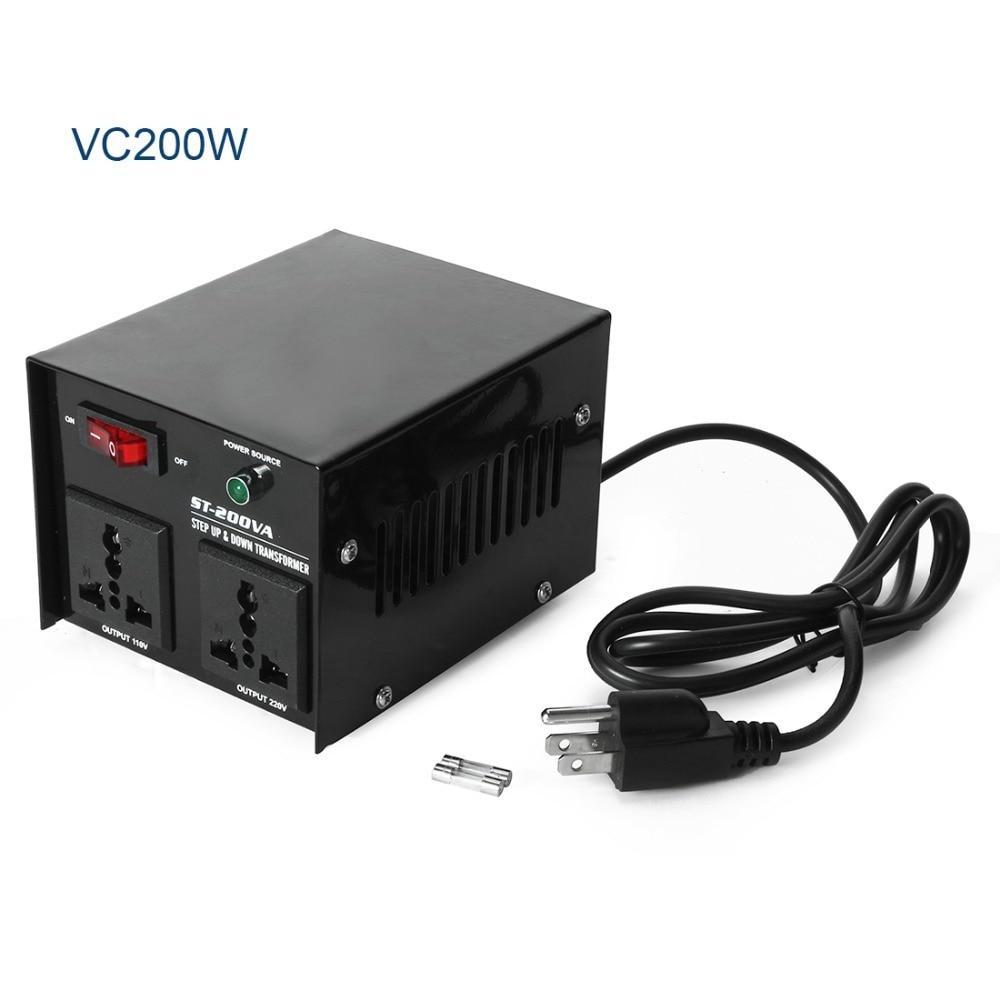 New Arrival AC-200W Step Up/Down Voltage Converter Transformer 110/120 Volt - 100 Watts + 220/240 Voltage Transformer 220v to 110v 2000w step down voltage converter transformer converts 2000 watts