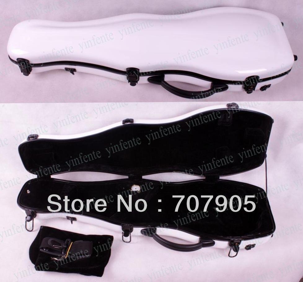 Здесь можно купить   Violin Case 4/4 Glass fiber case Waterproof Light Durable Dropshipping Wholesale High quality White Спорт и развлечения