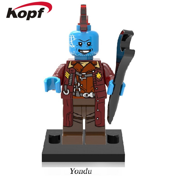 XH 605 Building Blocks Guardians of the Galaxy Yondu Gamora Rocket Racoon Gold Supervillain Kismet Super Heroes Bricks Kids Toys