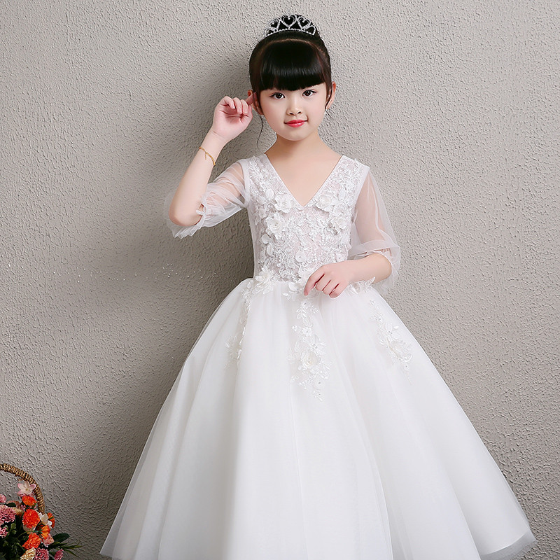 ffb9da248700 2019 New Children Girls Fashion wedding birthday party ball gown ...