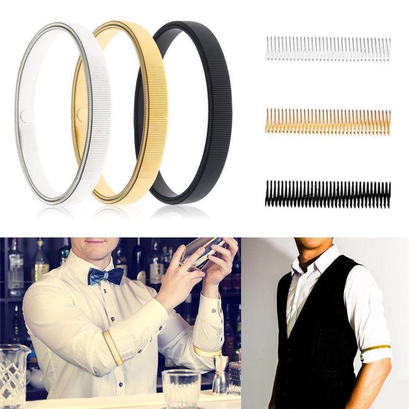 Mens Sleeve Garters Shirt Sleeve Holders Arm Bands Bridegroom Garter Elastic Metal Armband For Ladies Crazy Price Men's Arm Warmers