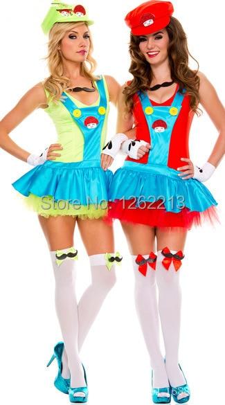 Super Mario Rpg Naughty Sisters Halloween Costume Plumber For Wimen