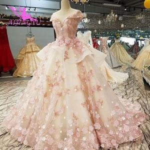 Image 5 - AIJINGYU בציר חתונת שמלת שמלות יוקרה כובע תחרה Bridals ארוך רכבת לבן בתוספת גודל לבנדר שמלות חתונה שמלת חנויות