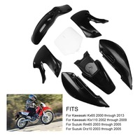 Off Road Motorcycle Plastic Exterior Parts Fit For Kawasaki KLX110 KX65 Front And Rear Fenders 2