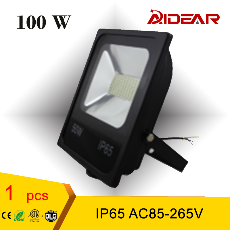 LED Flood Light IP65 Projector WaterProof 100W 85-265V FloodLight Spotlight Outdoor Wall Lamp, free shipping ultrathin led flood light 100w led floodlight ip65 waterproof ac85v 265v warm cold white led spotlight outdoor lighting