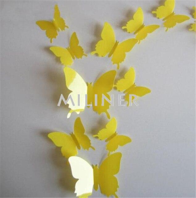 12pcs PVC 3d Butterfly Wall Decor – Borkut