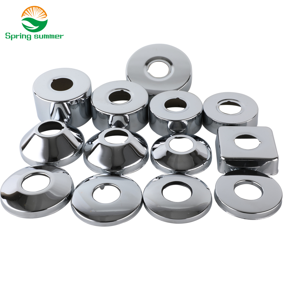 SPRING SUMMER DN20 3/4 25mm Shower Faucet Decorative Cover Chrome Finish Stainless Steel Cover Bathroom Accessories ZZG03