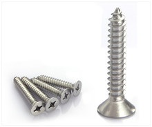 304 stainless steel self tapping screw M3 Cross countersunk head screws wood , acting(China)