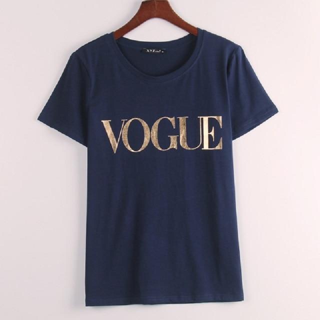 VOGUE Printed T-shirt Women Tops Tee Shirt  2