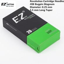EZ New Revolution Needle Cartridge #08 Bugpin 5.5 mm L- Taper Magnum Tattoo 20PCS/Box