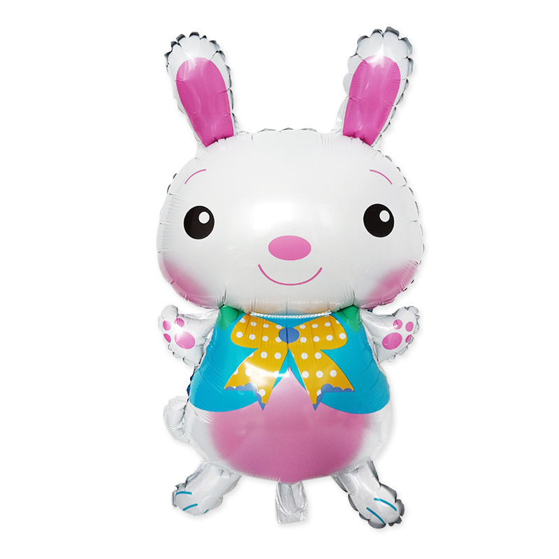 Easter Toys Big Rabbit Foil Balloons Cartoon Animal Balloon Easter Helium Balloon Party Favors Birthday Party Decorations Kids in Ballons Accessories from Home Garden