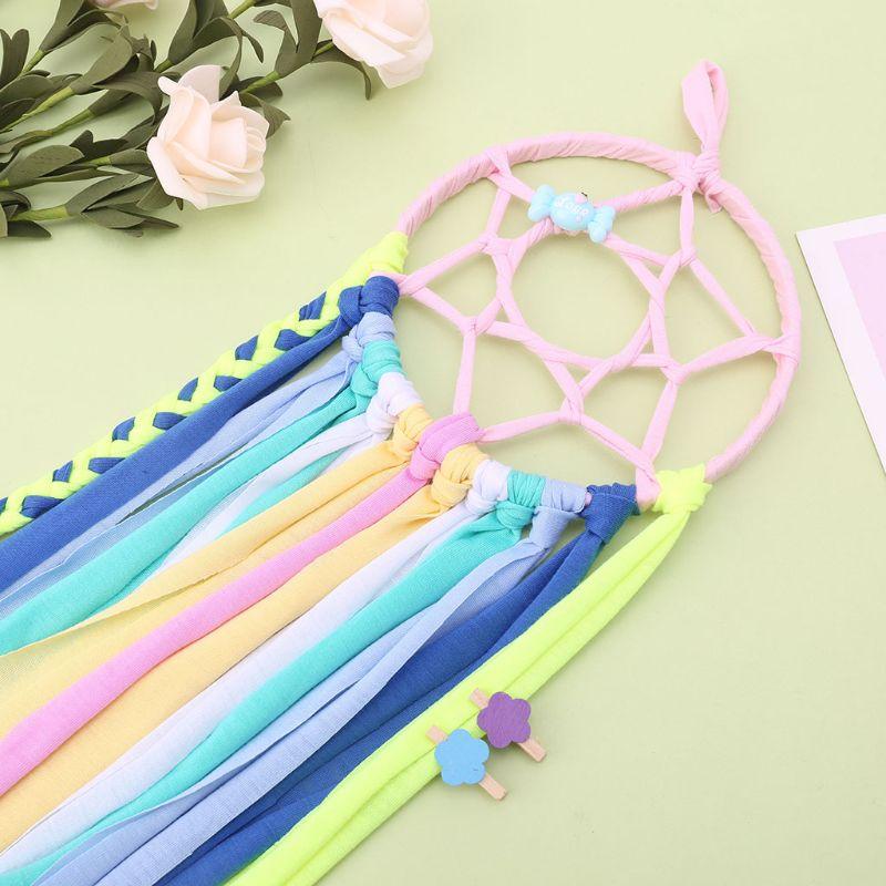 Dreamcatcher meninas bebê crianças grampos de cabelo arco titular gancho de armazenamento corda hairbands organizador acessórios para o cabelo decoração casa