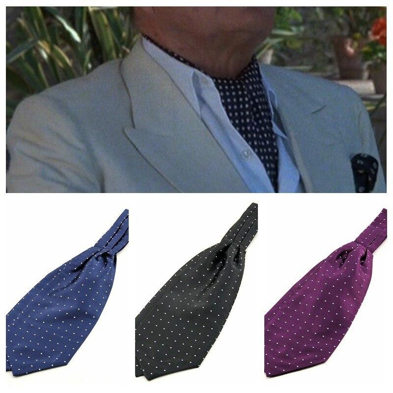 SHENNAIWEI 2017 New Paisley Ascot Cravat Tie Fashion Bowties Groom Normal Mens Cravat  Gift For Men