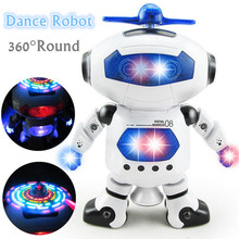 2017 New Smart Space Dance Robot Electronic Walking Toys With Music Light Gift For Kids Astronaut Toys For Children(China)