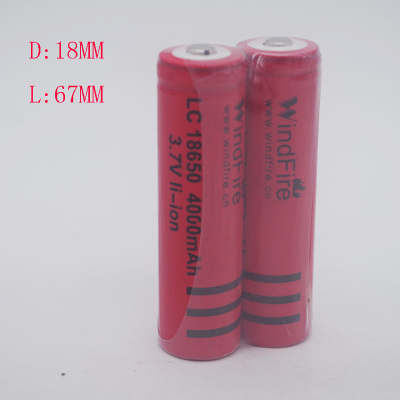 2 sections 18650 lithium <font><b>batteries</b></font> <font><b>3.7</b></font> <font><b>V</b></font> bright light flashlight rechargeable lithium <font><b>battery</b></font> <font><b>4000</b></font> <font><b>mAh</b></font> image