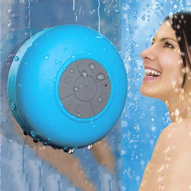 Ducha portátil altavoz impermeable Mini Altavoz Bluetooth inalámbrico para teléfono MP3 receptor Bluetooth manos libres llamada los altavoces de coche