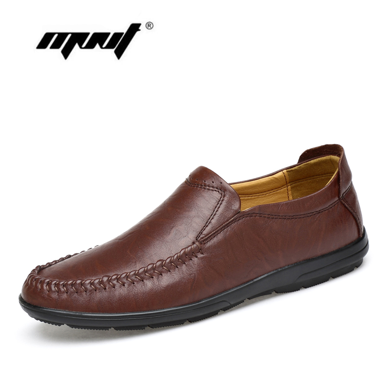Plus Size Men Genuine Leather Casual Shoes Slip On Loafers Moccasins Handmade Driving Shoes Men Zapatos Hombre dxkzmcm new men flats cow genuine leather slip on casual shoes men loafers moccasins sapatos men oxfords