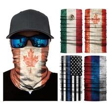 Hiking Scarf Sport Headwear Seamless Bandana Outdoor Fishing Cycling National Flag Scarves Motorcycle Face Mask Turban HandBand