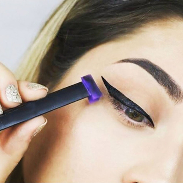 1pc Eyeliner Mold Lazy Silicon Eye Shadow Stamp Crease Glittering Licator Eyeshadow Seal Stamper Liner