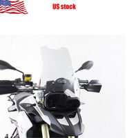 Transparent Motorcycle +4 Windshield Windscreen For BMW F800GS F650GS 2008 2016