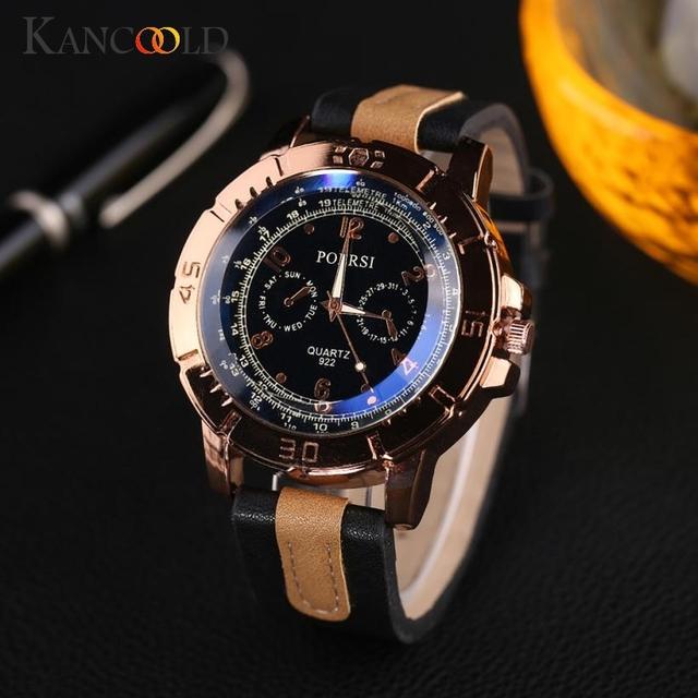 Men's  Luxury  Analog Quartz Leather Wrist Watch