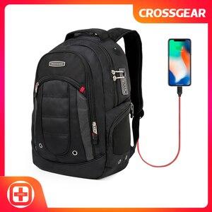 CROSSGEAR Professional дорожный рюкзак большая сумка рюкзак для ноутбука с комбинированным замком-подходит для большинства 15,6-дюймовых ноутбуков и п...
