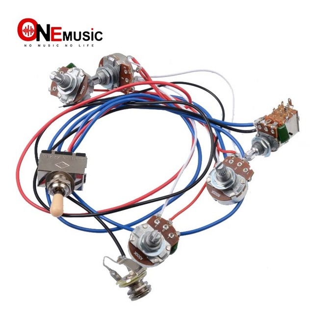 US $528 12 OFFElectric Guitar Wiring Harness Kit 2V2T Pot Jack 3 Way  Switch for Gibson Les Paul guitar Lp Electric guitar Parts-in Guitar Parts