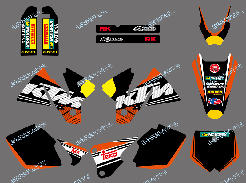 new style rb Logo TEAM BACKGROUNDS DECALS kit Sticker GRAPHICS FOR KTM SX MXC 125 250