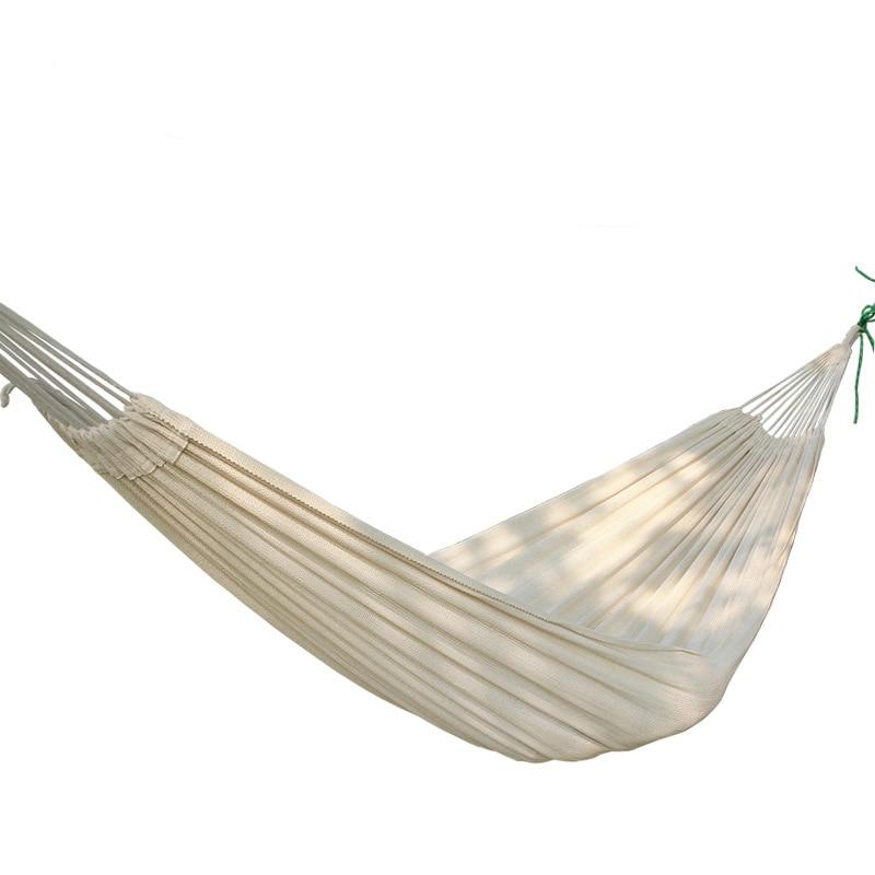 Outdoor leisure Portable Camping Garden Beach Travel hammock Thick cotton hammock double hamac swing bed 2 people portable parachute hammock outdoor survival camping hammocks garden leisure travel double hanging swing 2 6m 1 4m 3m 2m