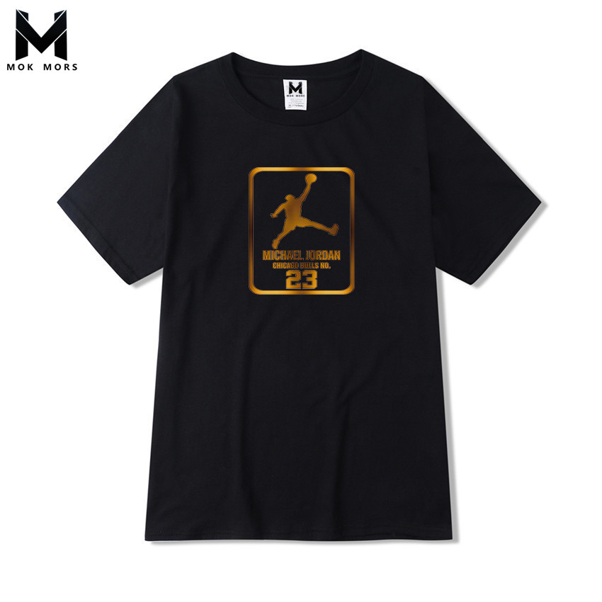 2018 New Creative Jordan Printing Wild Men   T     shirt   Fashion Business Casual Large Size High Quality Short Sleeve Mens   T     shirt