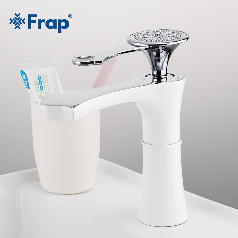 FRAP Water Mixer Bathroom Sink Faucet Basin Faucet Chrome Brass Faucet Single Handle Bath Tap Cold and Hot Water Mixer Y10152-1 все цены