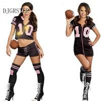 DJGRSTER No 10 Sexy High School Cheerleader Costume Girl Baseball Aerobics Dance Cheer Girls C Uniform