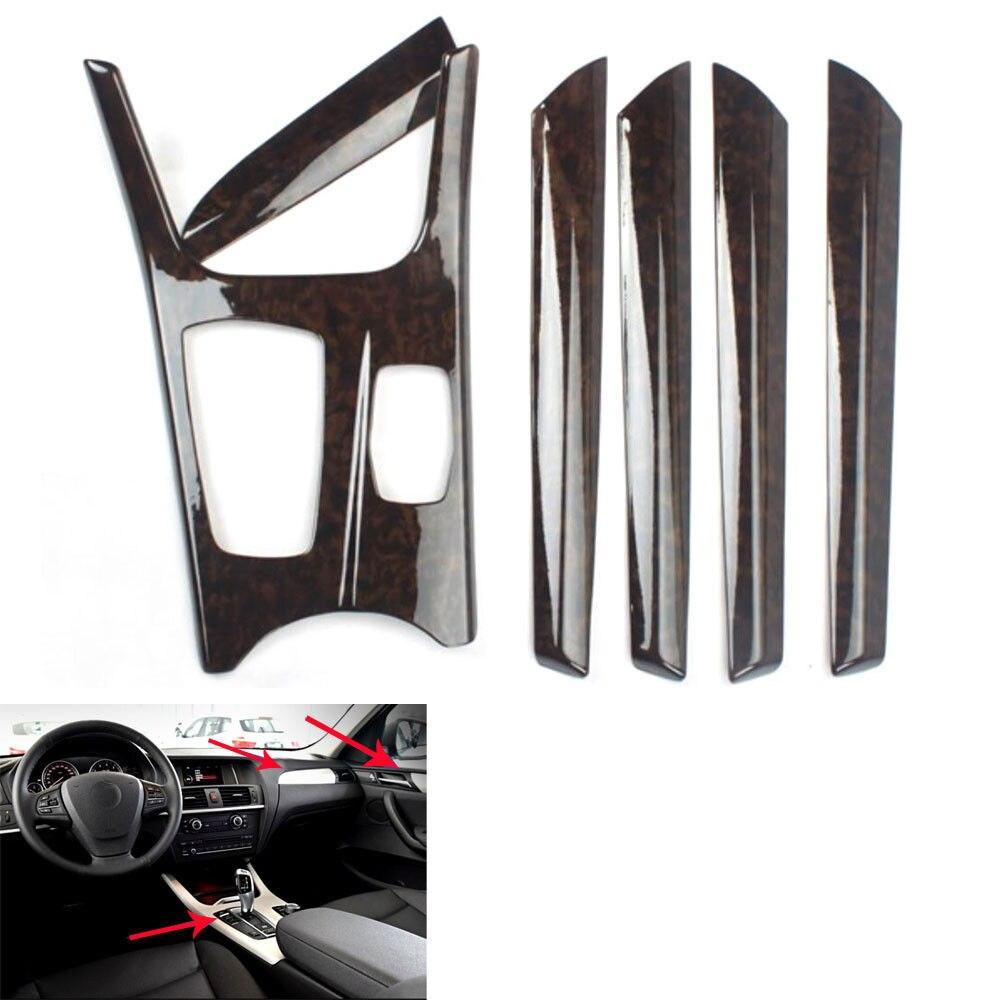 Pour BMW X3 F25 X4 2011-2016 fibre de carbone Style voiture moulures intérieures kit d'outils pour habillage ensemble complet couverture 6 pièces voiture Style