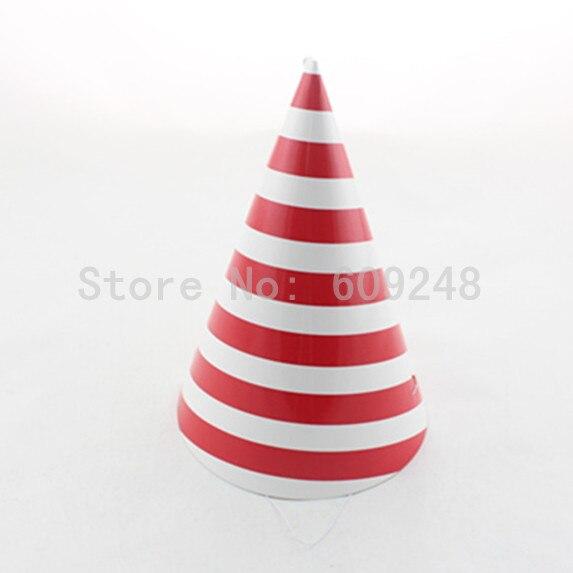 12pcs Funny Girl Boy Tea Wedding Carnival Birthday Red Striped Paper