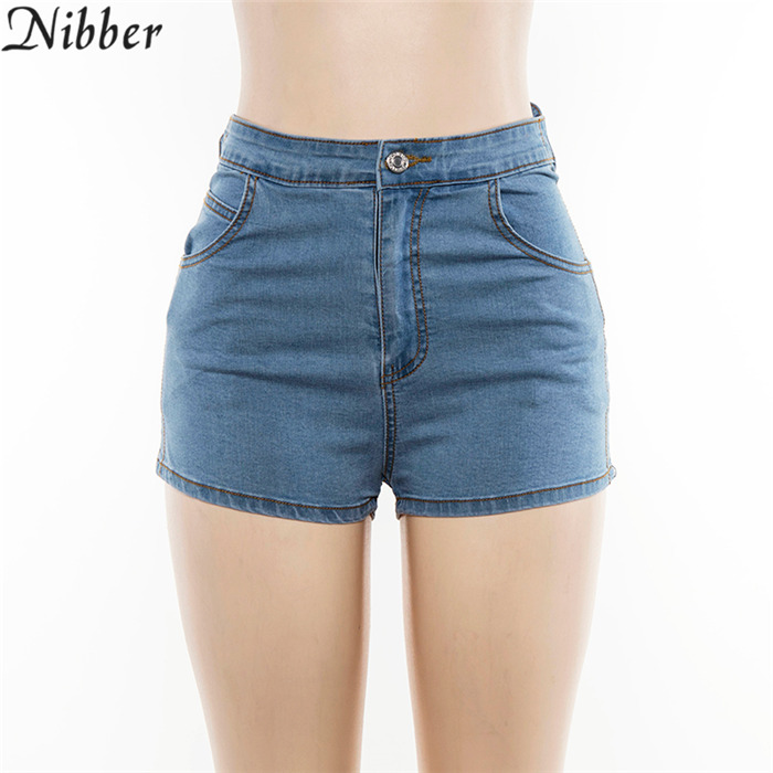 Nibber 2019 spring hot sale women denim mini shorts summer new fashion beach Casual vacation Street style Solid bandage shorts