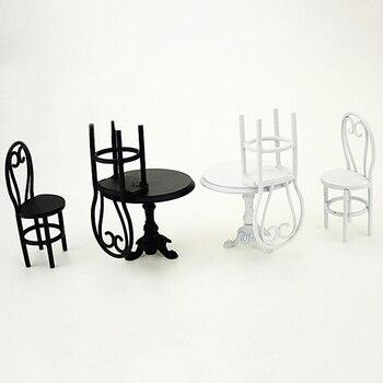 мини металлический обеденный стол стул набор моделирование мебель модель игрушки для украшение для кукольного домика 112 кукольный миниатю