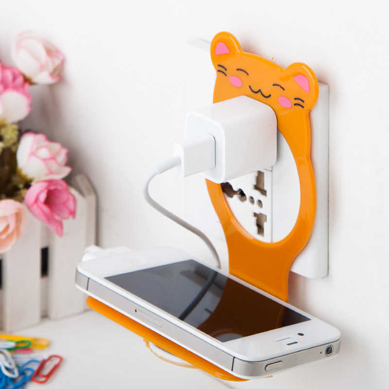 Creative bear mobile phone charger bracket fixed electric charger rack Multi-function mobile phone charger holder