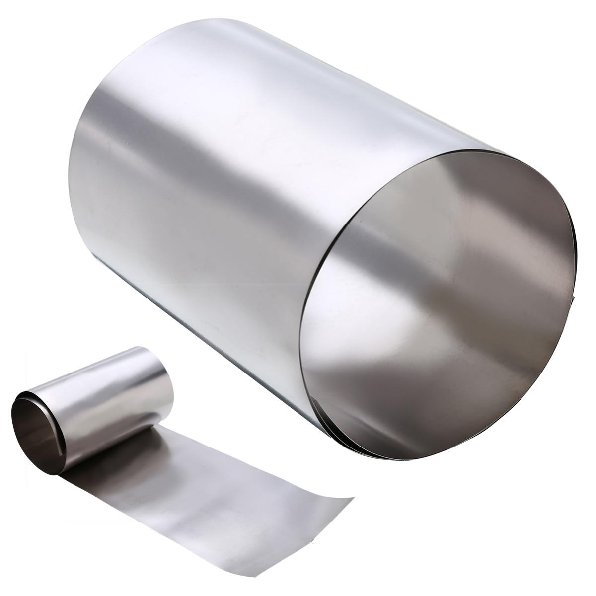 1pc Gr2 Titanium Foil Silver Thin Ti Sheet High Purity Metal Square Plate Sheet Foil Craft 0.1x100x500mm Mayitr