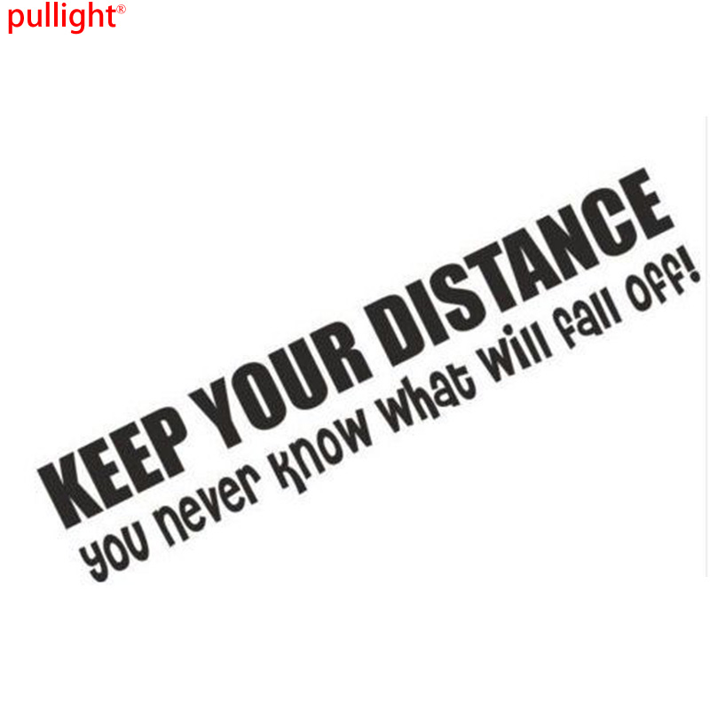 Keep Your Distance You Never Know What Might Fall Off Funny Bumper Sticker Car