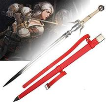 The Witcher 3: Wild Hunt - Ciri's Zireael Sword Game Cospaly Sword Stainless Steel Blade Red Saya