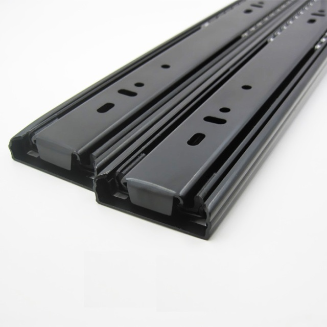 "1Pairs/Lot  20"" / 50CM  H4512  Heavy Duty ball bearing drawer slide Slides Runner Rail 1.2*1.2*1.2mm Thick Full Extension"