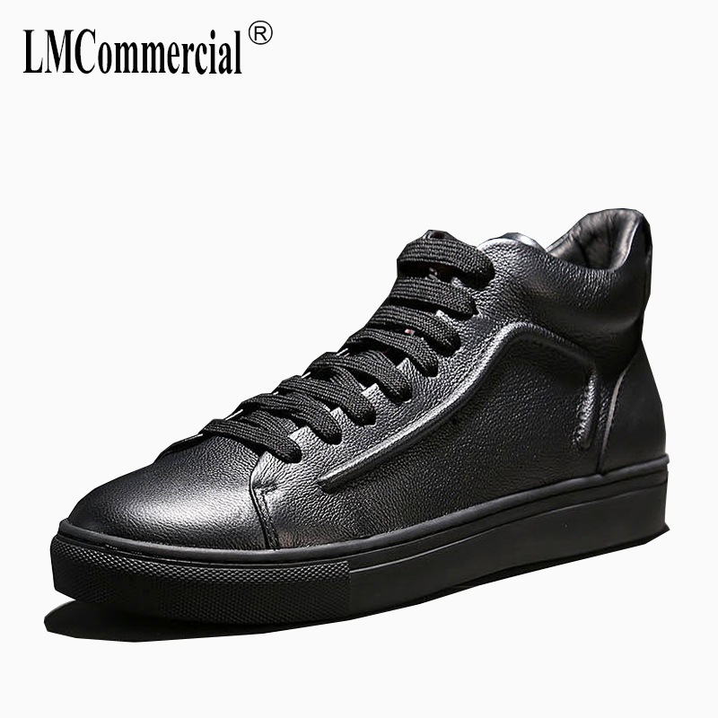New autumn winter men's shoes all-match cowhide Martins boots breathable sneaker fashion boots men casual Chelsea boots men 2017 new autumn winter british retro zipper leather shoes breathable sneaker fashion boots men casual shoes handmade