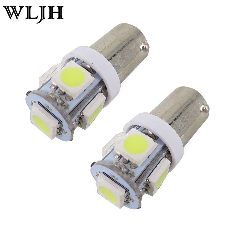 10x 5050 5SMD BA9S T4W H6W LED Canbus Error Car Side Dome Light White Bulb 12V