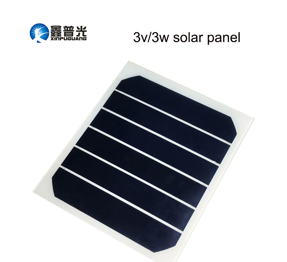Xinpuguang 3W 3V Solar panel semi flexible quality cells module smooth surface solar Board toys Battery charger factory directly