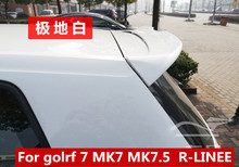 2013 to 2019 for Volkswagen Golf 7 MK7 7.5 GIT R-LINE Spoiler MAX style spoiler rear  roof spoiler  Primer and  paint colorr