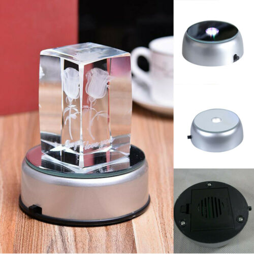 Stands Video Games Responsible 3d Crystal Glass Cup Rainbow Laser Led Battery Lighting Platform Base Display Stands Discounts Sale