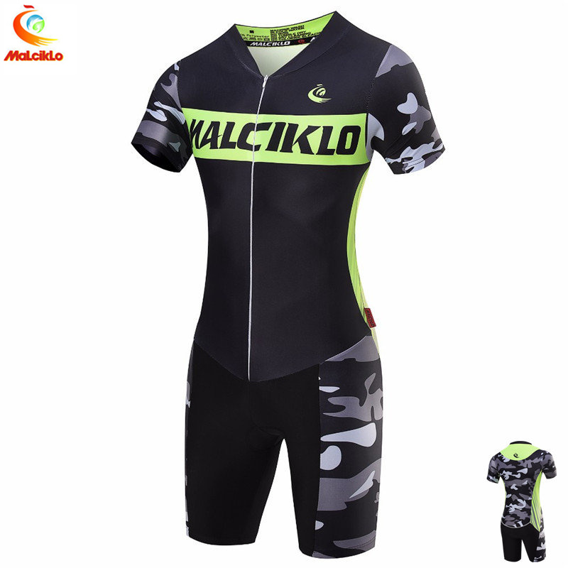 21 Style Malciklo Summer Triathlon Suit One Piece Customized Cycling Skinsuit Ropa Ciclismo For Unisex Running
