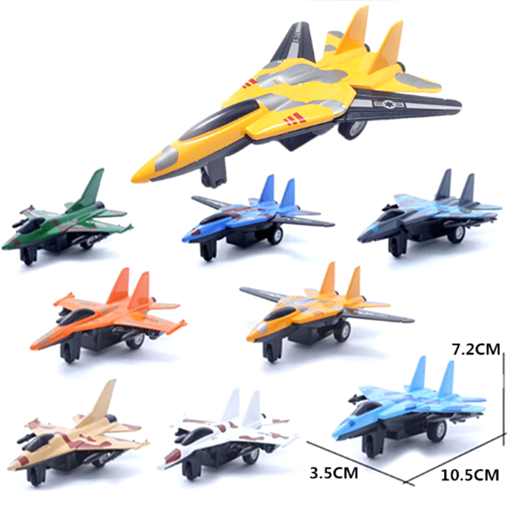 Military Model Toy Lifelike Warplane Birthday Xmas Gift Kids Children Pull Back Airplane Aircraft Desk Toy image