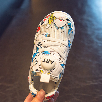 Spring New Kids Pu Leather Shoes Baby Girls Sport Sneakers Children Mesh Shoes Boys Fashion Casual Shoes Soft Brand Trainer 2019 5