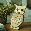 Coruja de madeira feitos à mão artesanato em madeira figuras de animais decoração presente criativo artesanato casa acessórios de decoração do presente de aniversário para as mulheres
